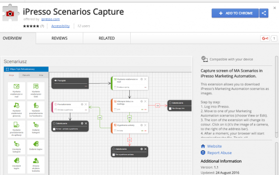 New Google Chrome's extension to capture screenshots of MA Scenarios in iPresso