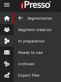segmentation menu